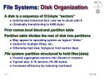 file systems disk organization