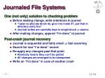 journaled file systems