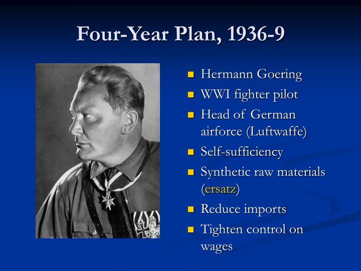 Four-Year Plan, 1936-9