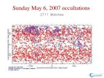 sunday may 6 2007 occultations