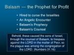 balaam the prophet for profit1