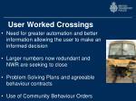user worked crossings