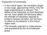 explanation of universality