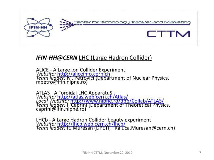 IFIN-HH@CERN