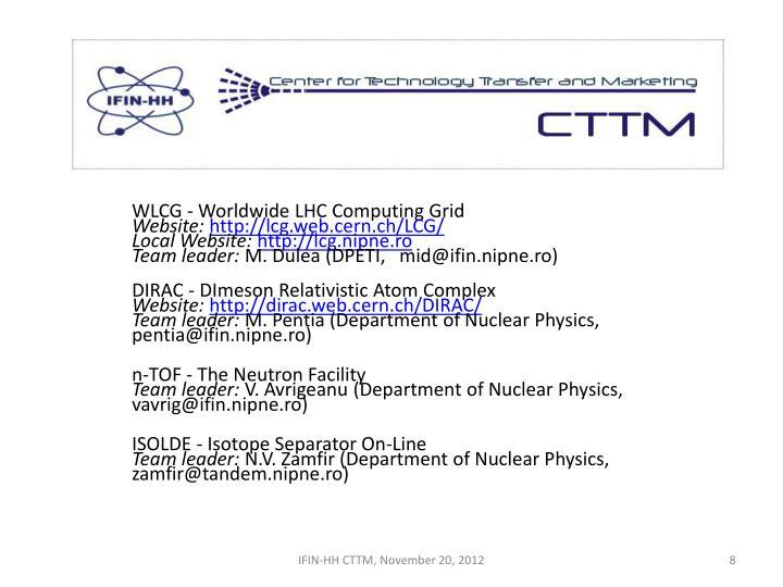 WLCG - Worldwide LHC Computing Grid