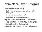 comments on layout principles