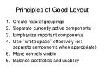 principles of good layout