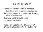 tablet pc issues