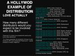 a hollywod example of distribution