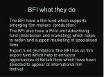 bfi what they do