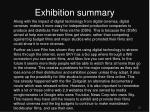 exhibition summary