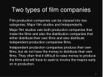 two types of film companies