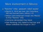 more involvement in mexico