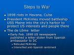 steps to war