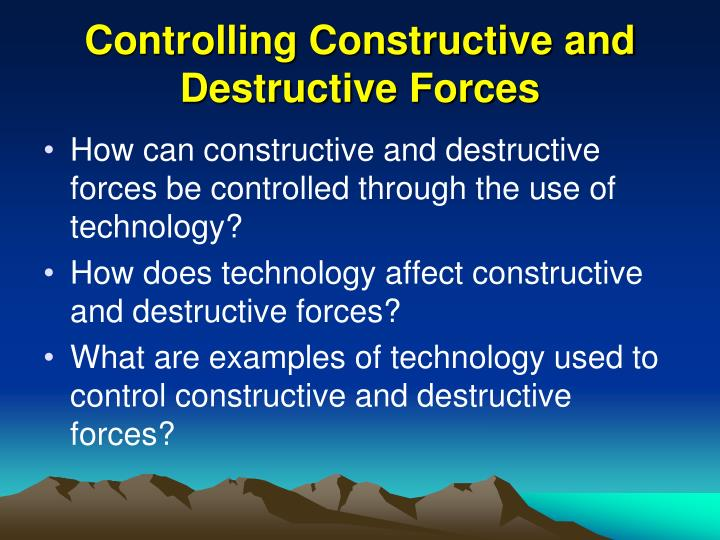 is technology constructive or destructive essay Find essay examples distinguish between destructive and constructive conflict in the workplace destructive nature of technology work cited dick.