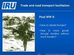 trade and road transport facilitation