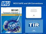 wco safe and un conventions