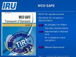 wco safe