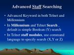 advanced staff searching