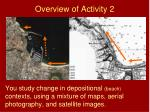 overview of activity 2