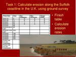 task 1 calculate erosion along the suffolk coastline in the u k using ground survey1