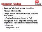 navigation funding