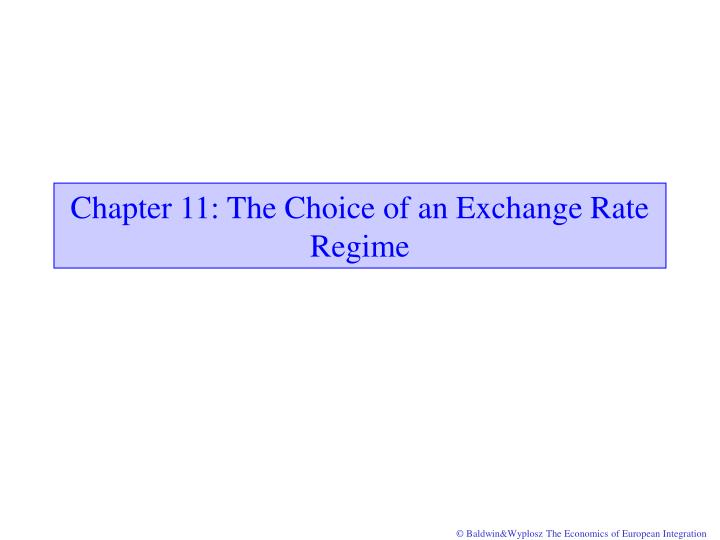 chapter 11 the choice of an exchange rate regime n.