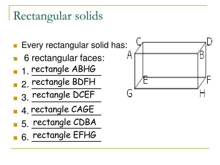 Rectangular solids
