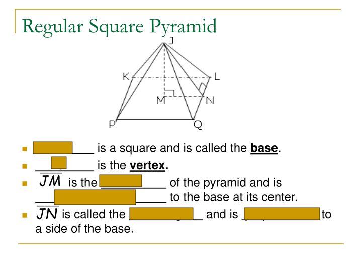 Regular Square Pyramid
