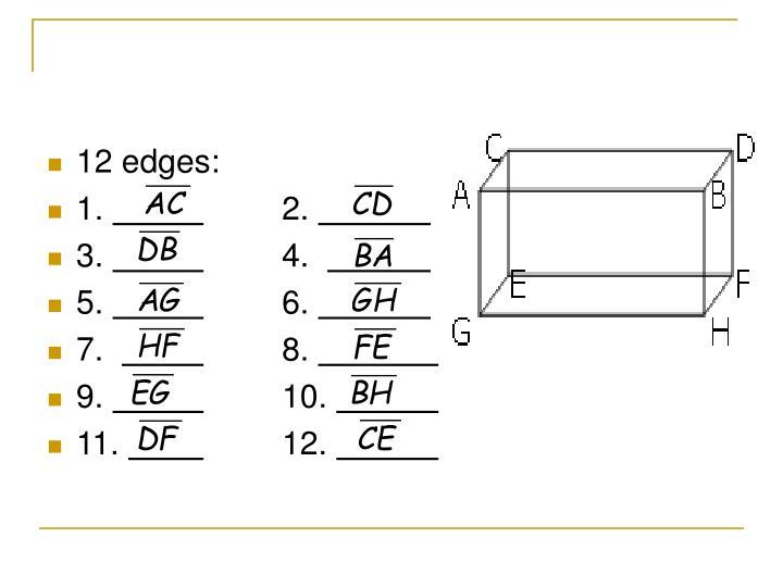 12 edges: