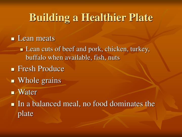 Building a Healthier Plate