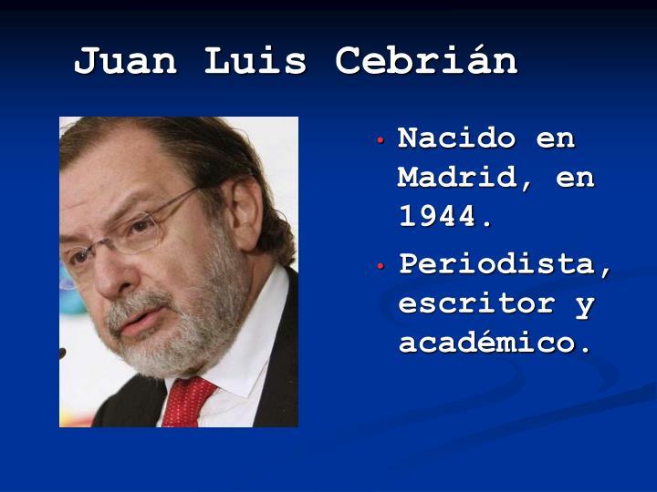 Juan luis cebri n