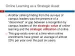 online learning as a strategic asset2