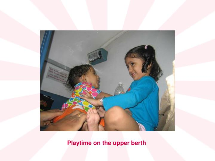 Playtime on the upper berth