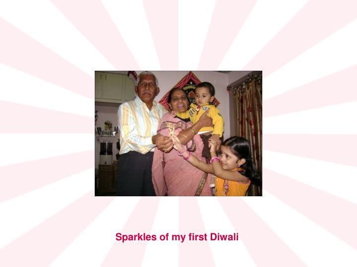 Sparkles of my first Diwali