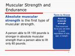 muscular strength and endurance1
