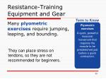 resistance training equipment and gear7