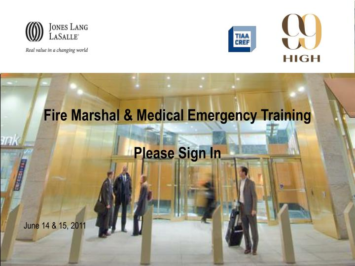 fire marshal medical emergency training please sign in n.