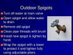 outdoor spigots