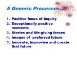 5 generic processes