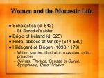 women and the monastic life