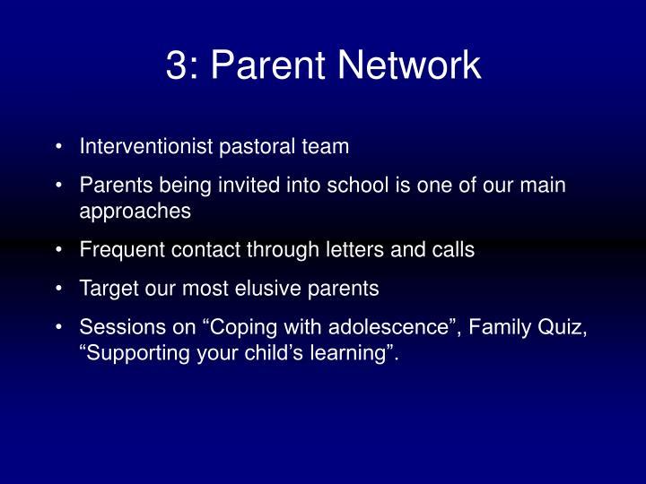 3: Parent Network