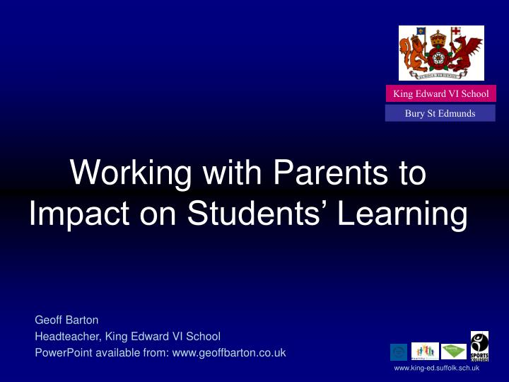 working with parents to impact on students learning n.