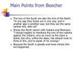 main points from beecher