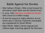 battle against the soviets