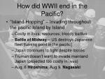 how did wwii end in the pacific