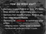 how did wwii start1