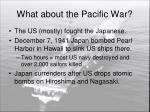 what about the pacific war