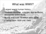 what was wwii