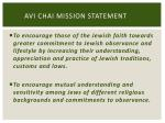 avi chai mission statement